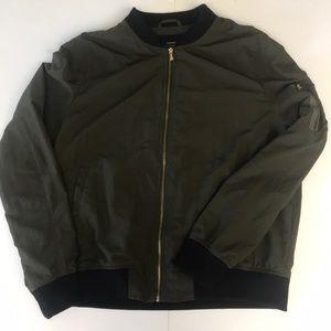 Zara khaki bomber jacket - size large